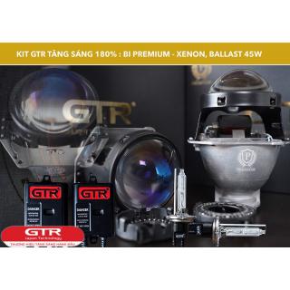 GÓI GTR G3 ( BI CẦU GTR PREMIUM + XENON GTR 45W + BALLAST GTR 45W)