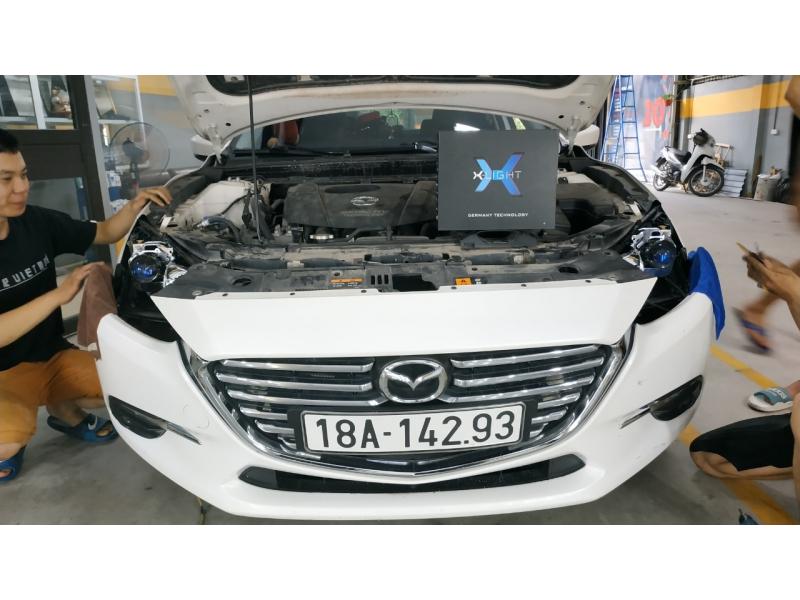 Độ đèn nâng cấp ánh sáng Nâng cấp Bi Led XLight V20 tăng sáng cho Mazda 3