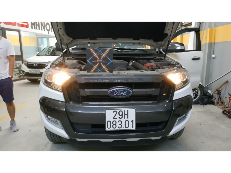 Độ đèn nâng cấp ánh sáng Bi Led GTR GLed X cho Ford Ranger