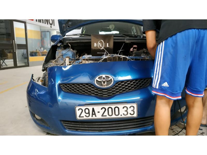 Độ đèn nâng cấp ánh sáng Bi Led Titan Silver cho Toyota Yaris
