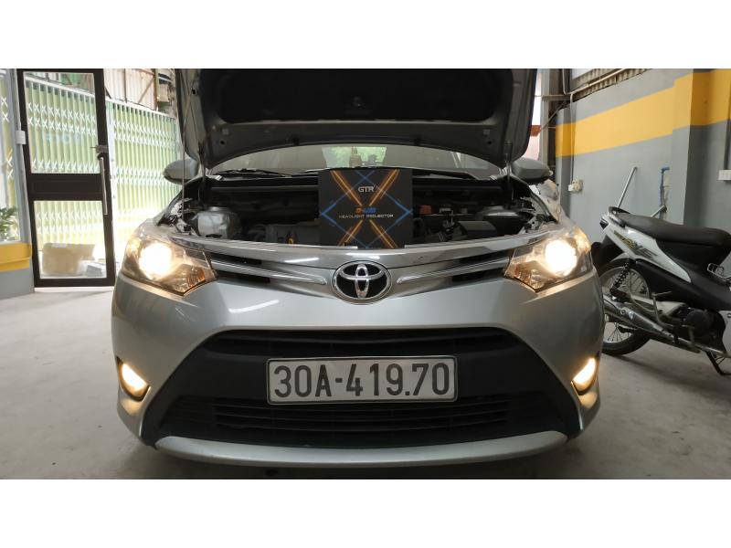 Độ đèn nâng cấp ánh sáng Bi Led GTR GLed X cho Toyota Vios G