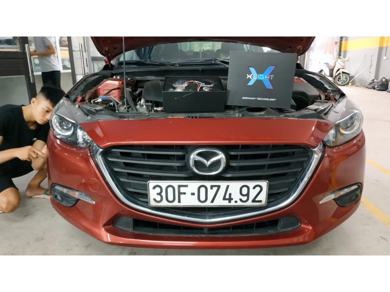 Độ đèn nâng cấp ánh sáng Bi Laser XLight V20L cho Mazda 3