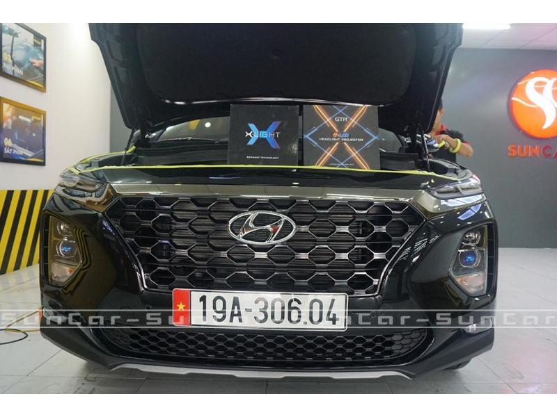 Độ đèn nâng cấp ánh sáng Nâng cấp ánh sáng GTR Gled X + Xlight V10s xe Santafe