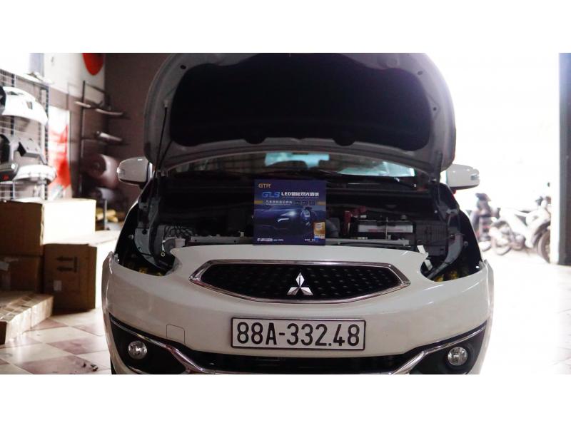 Độ đèn nâng cấp ánh sáng Nâng cấp ánh sáng GTR GLS xe Mitsubishi Mirage
