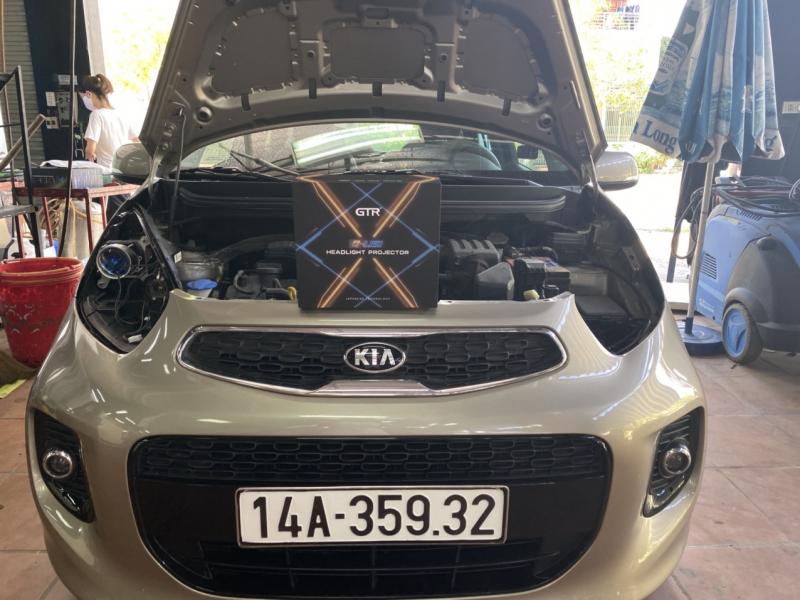 Độ đèn nâng cấp ánh sáng Bi Led GTR Gled X xe Kia Morning