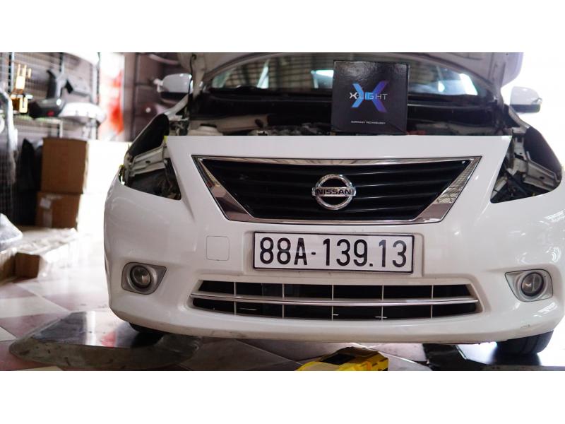 Độ đèn nâng cấp ánh sáng Bi led Xlight V10S xe Nissan Sunny