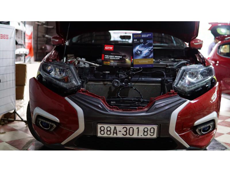 Độ đèn nâng cấp ánh sáng Bi gầm SE + kit tăng sáng 150% xe Nissan X-trail