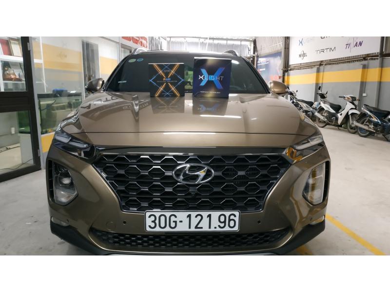 Độ đèn nâng cấp ánh sáng Bi Laser XLight V10L và Bi GLed X cho Hyundai Santafe