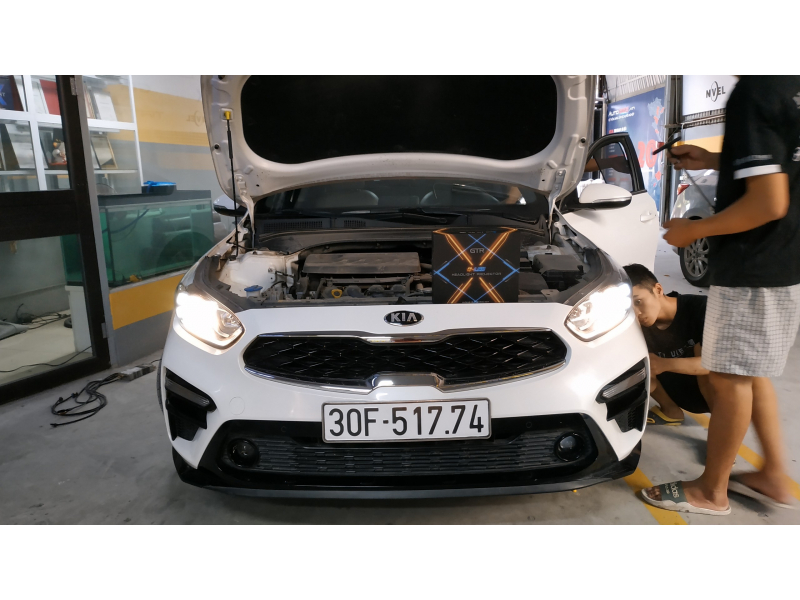 Độ đèn nâng cấp ánh sáng Bi Led GTR GLed X cho KIA Cerato
