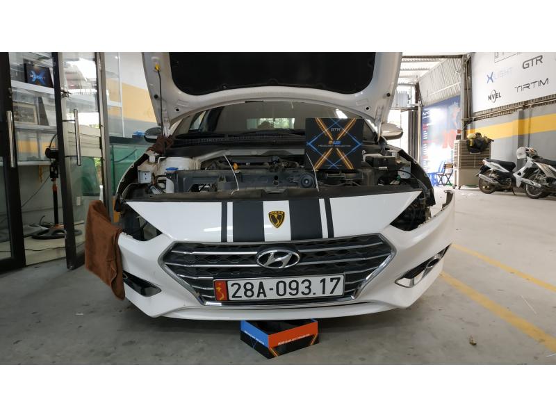 Độ đèn nâng cấp ánh sáng Bi Led GTR GLed X cho Hyundai Accent