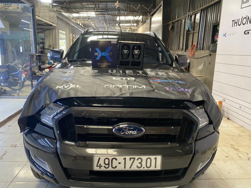 Độ đèn nâng cấp ánh sáng Bi led Xlight V30 + Led Pha GTR V9 H15 xe Ranger