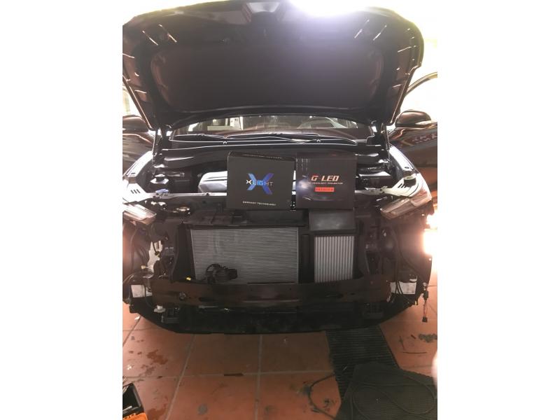 Độ đèn nâng cấp ánh sáng Bi Lazer Xlight V20L + Bi Led GTR Premium xe Santafe