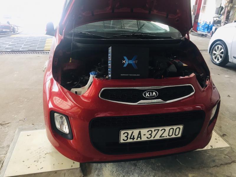 Độ đèn nâng cấp ánh sáng Hi Led Xlight V20 xe Kia Morning