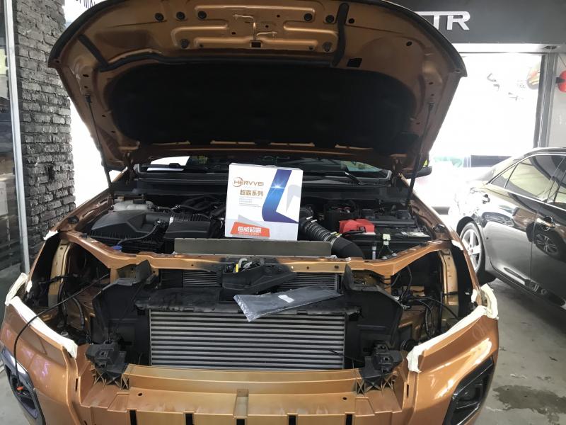 Độ đèn nâng cấp ánh sáng Bi Laser Henvei L91 xe Ranger Biturbo