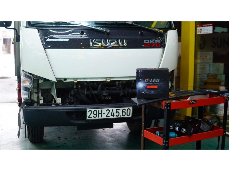 Độ đèn nâng cấp ánh sáng Bi Led GTR Gled Premium xe Isuzu QKR270