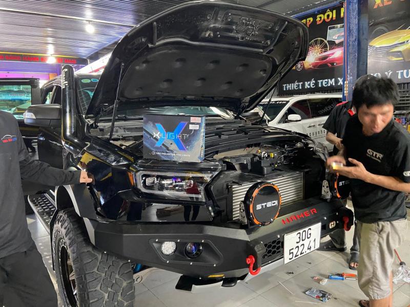 Độ đèn nâng cấp ánh sáng XE RAPTOR - BI XLIGHT F10 6000 (FORD)
