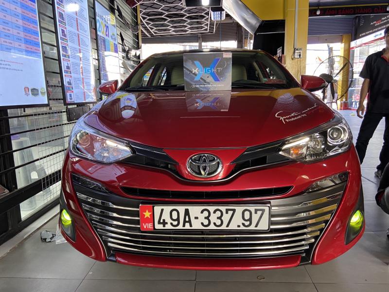 Độ đèn nâng cấp ánh sáng VIOS - Bi led xlight F10 2700K (Toyota)