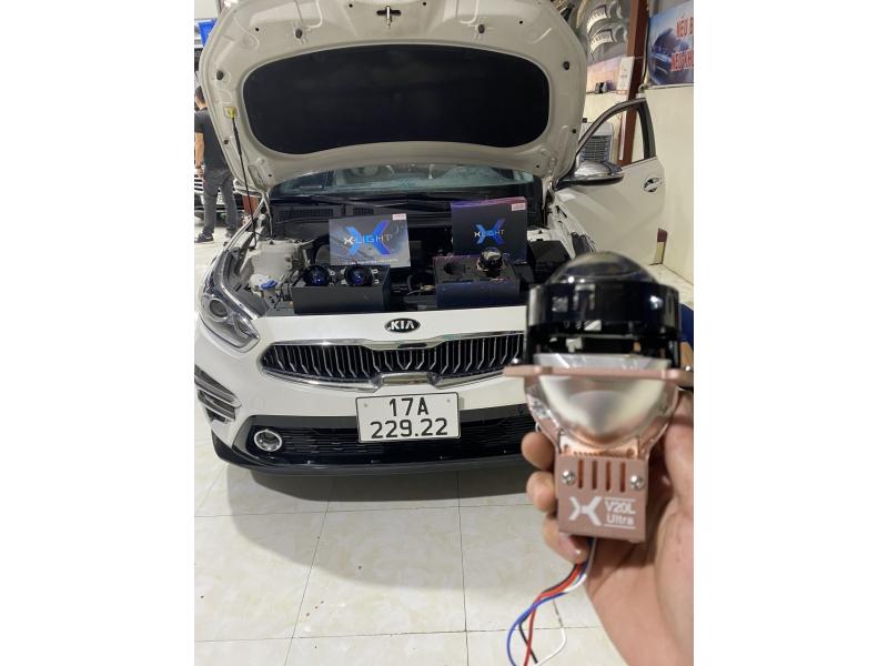 Độ đèn nâng cấp ánh sáng CERATO - BI LASER V20L ULTRA + BI GẦM F10 X-LIGHT