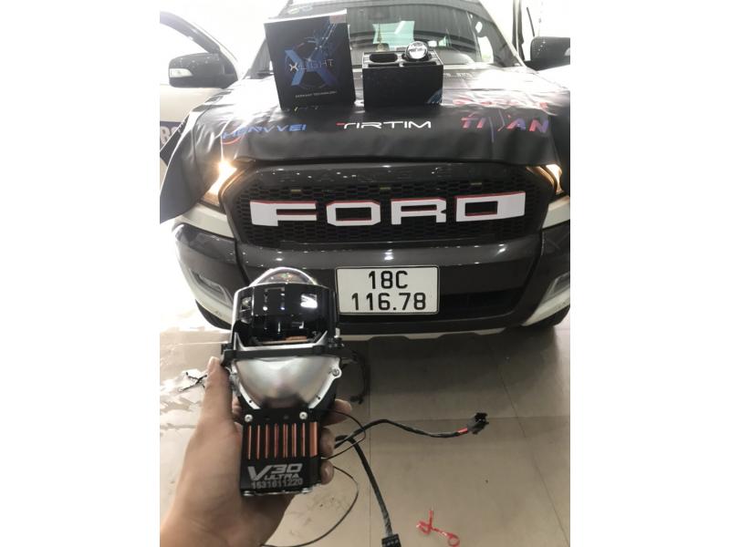 Độ đèn nâng cấp ánh sáng BI LED X-LIGHT V30 ULTRA XE RANGER - NAM ĐỊNH