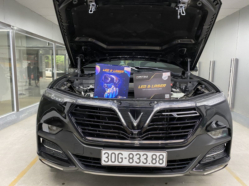 Độ đèn nâng cấp ánh sáng Nâng cấp bi laser Henvvei L92Pro + Tirtim S600 cho xe Vinfast Lux SA