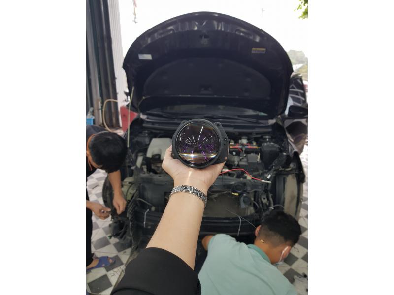 Độ đèn nâng cấp ánh sáng BI LED TITAN BLACK XE VIOS - HÀ NAM