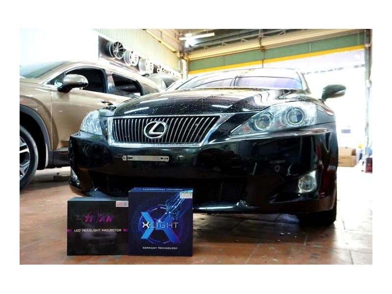 Độ đèn nâng cấp ánh sáng BI LED X-LIGHT V30 ULTRA + TITAN BLACK XE LEXUS - TẤN TRÌNH BMT