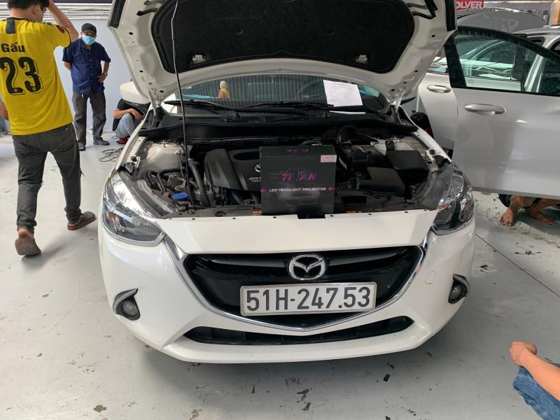 Độ đèn nâng cấp ánh sáng Bi led Titan Black xe Mazda 2 - Quận 9 - 24753