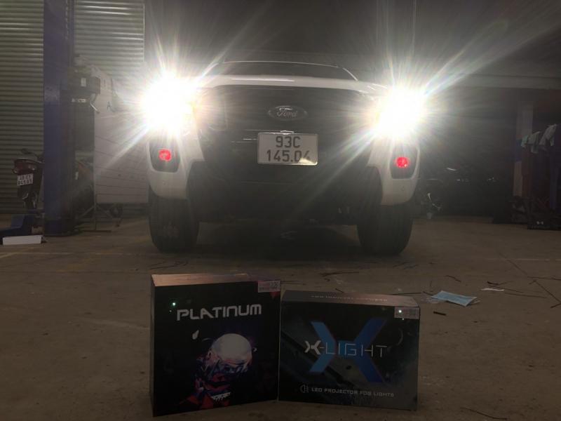 Độ đèn nâng cấp ánh sáng THÁNG 6 -  Bi Gầm Led X-Light F10 + BI LED TITAN PLATINUM