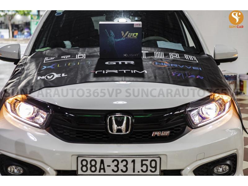 Độ đèn nâng cấp ánh sáng 12/06 - Xe Brio lắp bi led xlight V20 /2021