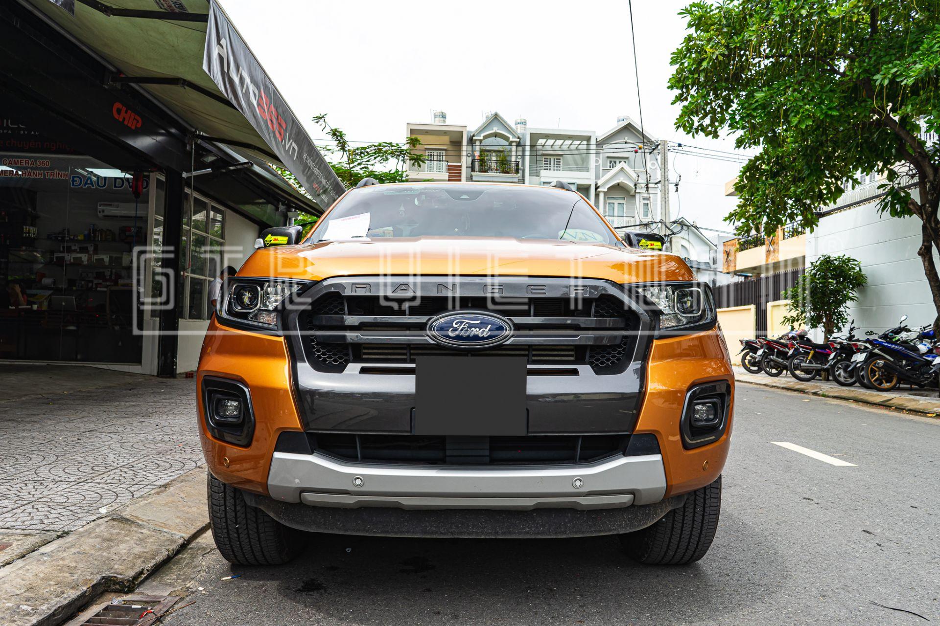 Ford Ranger độ đèn tăng sáng với Bi Laser Henvvei L91