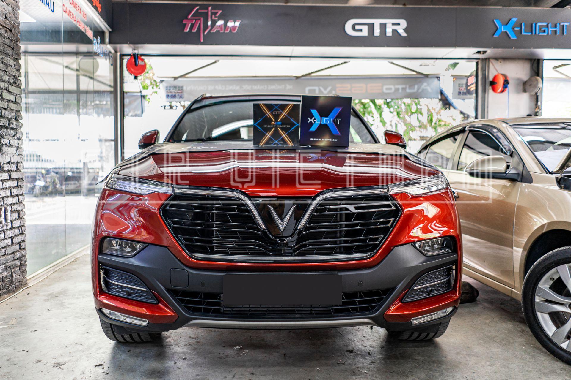 ĐỘ ĐÈN VINFAST VỚI BI LASER X-LIGHT V20L + BI LED GTR G-LED X